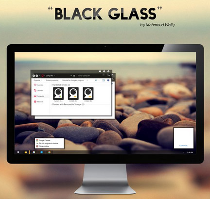 Black Glass (Fixed) for win7 desktop theme