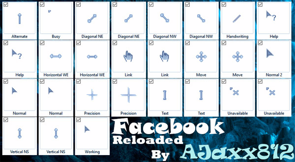Facebook mouse pointers