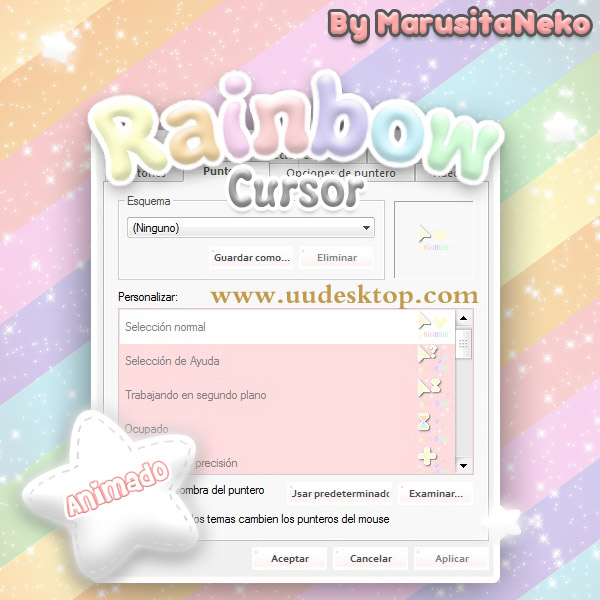 cool Rainbow mouse cursors