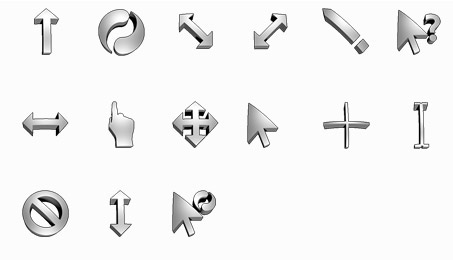 Curvy Chrome Mouse Cursors