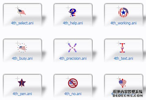 4th Of July Patriotic PC Cursors