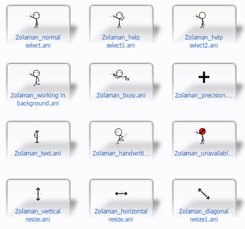 free ZolaMan Boy mouse pointers download