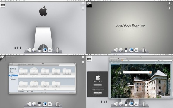 Snow Leopard White for Mac OS X Themes