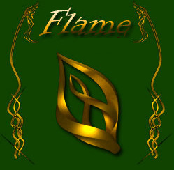 Flame Golden cool mouse pointers