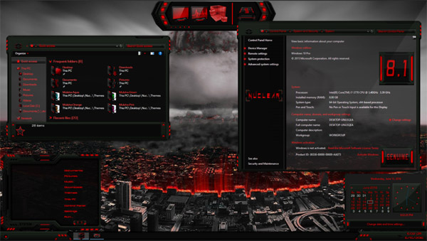 Nuclear Theme Pack For Windows