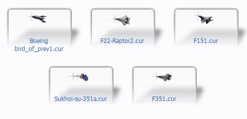 Jet fighters Cursors