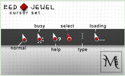 Red Jewel Cursor Pack