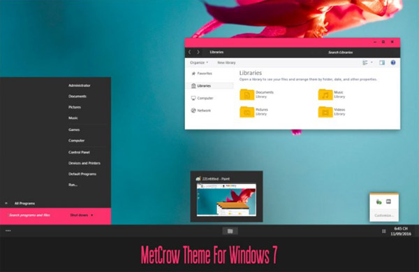Met Crow Theme For Windows 7 download