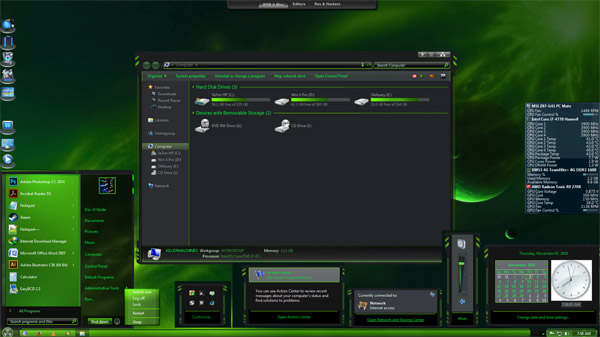 Caustic 7 for windows 7 theme download