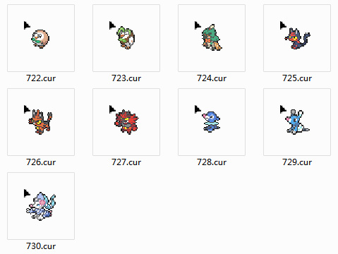 Pokemon Alola Mouse Cursors