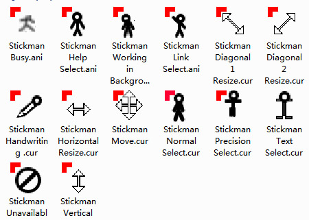 Stickmans Pack Mouse Cursors