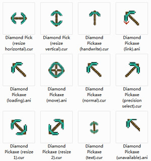 Diamond Pickaxe computer mouse pointer