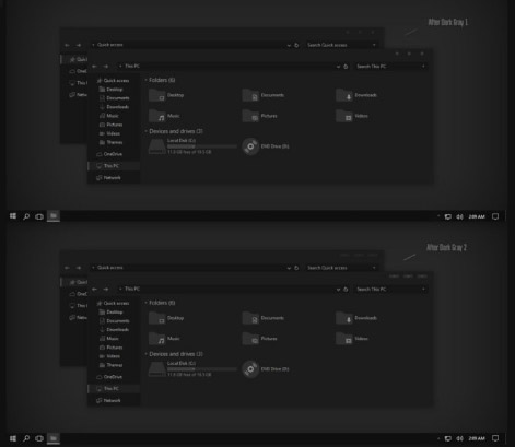 After Dark Gray Theme Win10 Insider RS2 1703