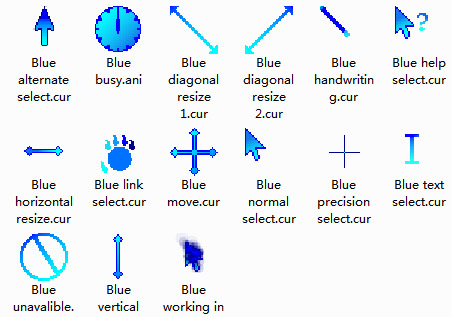 Blue Mouse Cursors