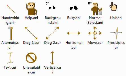 Cavemen computer mouse pointer