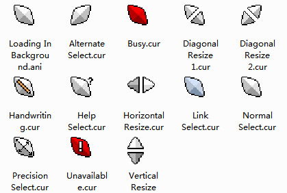 3D Diamond Mouse Cursors