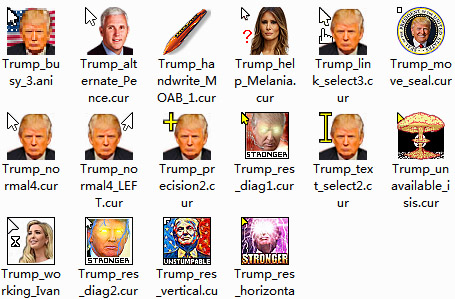 USA Trump Mouse Cursors