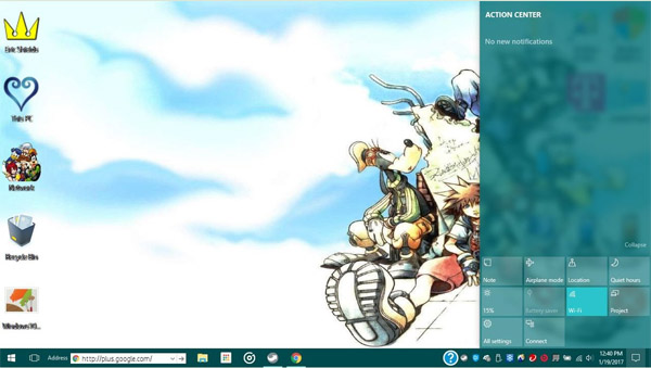 Kingdom Hearts Final Mix for win10 themes