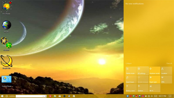 Moon Casting for windows 10 themes