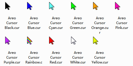 Areo Color Pack Mouse Cursors