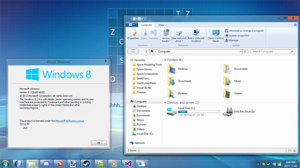 Windows 8 7989 Aero for Windows 8.1