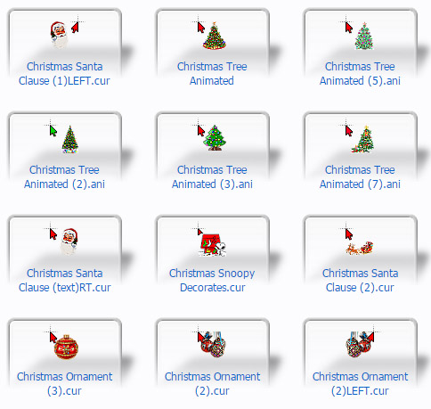 More Christmas Mouse Cursors