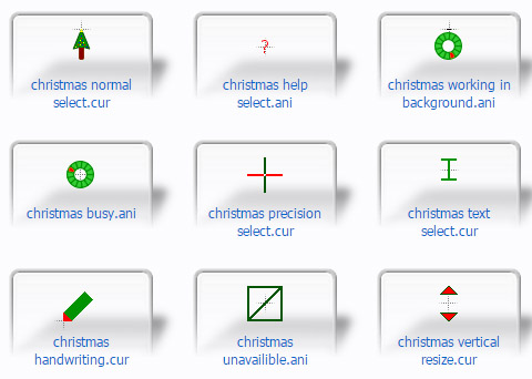 2017 Christmas Xmas Mouse Cursors