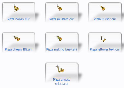 cool Pizza Cursors