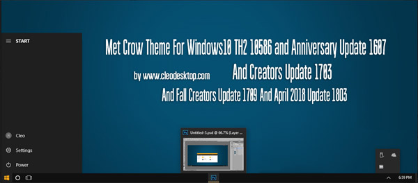Met Crow Theme Win10 April 2018 Update