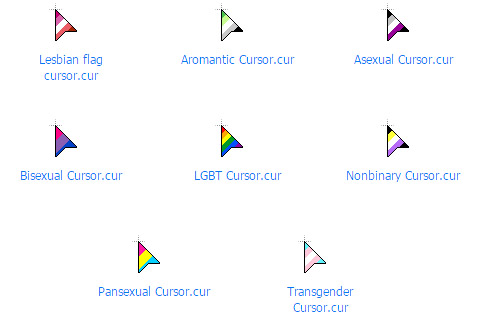 free LGBT Pride for custom windows cursors