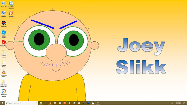 free Joey Slikk for Windows 10 Theme