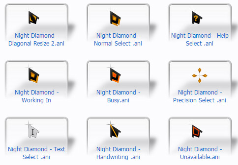 Night Diamond Mouse Cursors