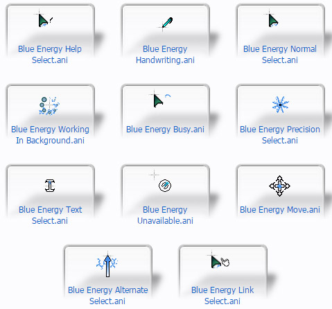 Blue Energy Mouse Cursors