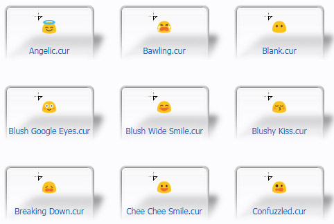 Cute Bubble Chee Faces Cursors