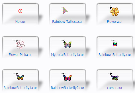 Random Colorful Mix Mouse Cursors