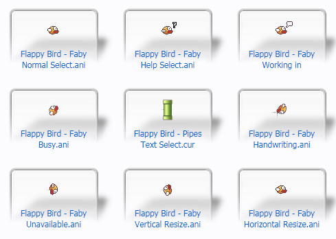 Flappy Bird Cursors