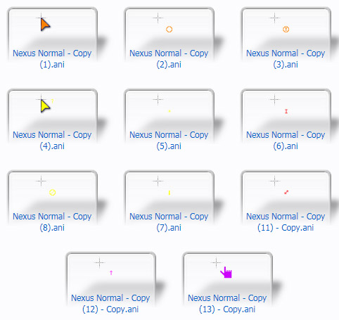 rainbow mouse Cursors