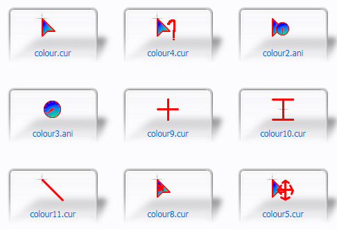 Colour Mouse Cursors